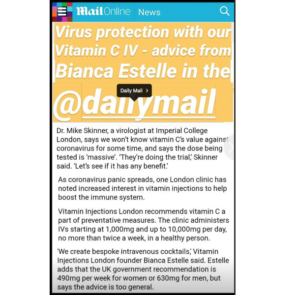 Vitamin C IV - Vitamin Injections London Clinic